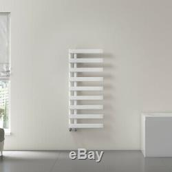 Modern White Reversible Designer Heated Towel Rails Bathroom Radiator Flat Tube