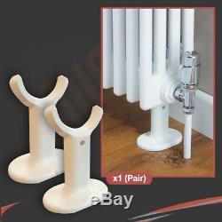 NEW! Korona 2 Column White Horizontal, Central Heating Radiators (15 Sizes)