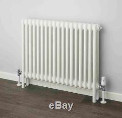 NEW! Korona 3 Column White Horizontal, Central Heating Radiators (17 Sizes)