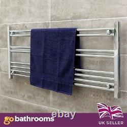 Newark Heated Chrome Horizontal Towel Rail Radiator Bathroom (500mm x 1200mm)