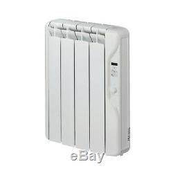 Oil Filled Electric Radiator Wall Mounted 500w 24/7 Timer & Thermostat ExRad E4