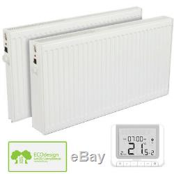Oil Filled Electric Radiator Wall Mounted Heater with Thermostat and Timer