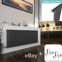 Oval Column Radiator Horizontal Central Heating Single Radiators Free Valve