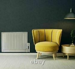 Panel Heater Radiator Wall Mounted Oil Filled Digital Slim Electric Portbl 1000W