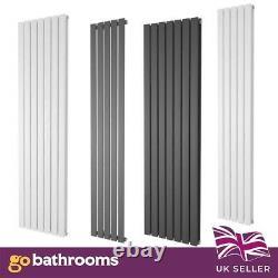 Pinta Vertical Flat Panel Modern Column Designer Radiators White Anthracite