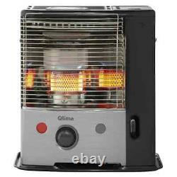 Qlima Portable Paraffin Heater Silver and Black R8128 SC Electric Radiator
