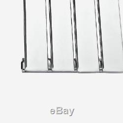 Quebec Chrome 1600x376 Vertical Flat Panel Designer Radiator Central Heating
