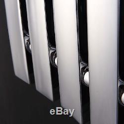 Quebec Chrome 600x604 Horizontal Flat Panel Designer Radiator Central Heating