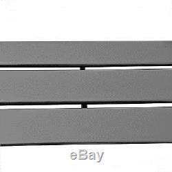 ROMAN Anthracite 600x984 Horizontal Flat Panel Designer Radiator Central Heating