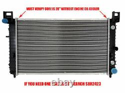 Radiator For 1999-2006 Chevy P/U 1500 Must Verify 28Core Fast Free Shipping