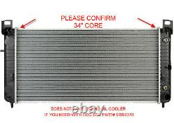 Radiator For Chevy GMC Fits Silverado Sierra V8 34 Core WithO Engine Oil Cooler
