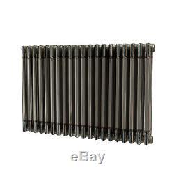 Raw Metal Horizontal Column Radiators 600mm Central Heating 15 Year Guarantee