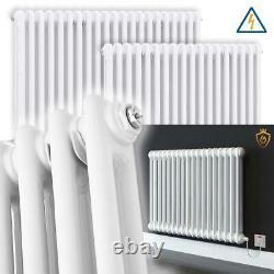 Regal Gloss White Traditional ELECTRIC Multi-Column Designer Radiators Rads