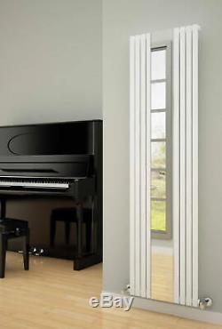 Reina Reflect Vertical Designer Radiator Mirrored radiator Upright Modern White