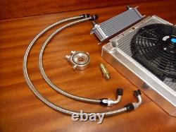 Renault 5 Gt Turbo New 50mm Alloy Radiator + Fan + Oil Cooler Kit Fan + Switch