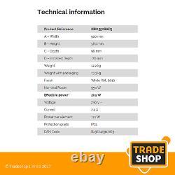 Rointe Kyros KRI0550RAD3 Energy-Saving Digital Radiator 550w 20 Year Warranty