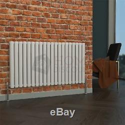 SALE Milan Double Horizontal Radiator 63 x 118 Designer Central Heating White