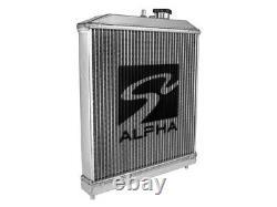 SKUNK2 ALPHA SERIES HALF-SIZED RADIATOR 92-00 for HONDA CIVIC / DEL SOL EG EK