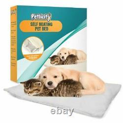 Self Heating Dog Cat Pet Bed Mat Thermal Radiator Heated Pad Washable Kitten