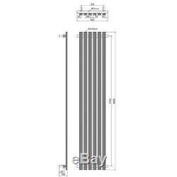 Shino Modern Designer Vertical Central Heating Radiator 1800mm x 400mm Chrome