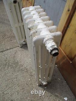 Small Victorian cast iron radiator radiators floor standing 4 column 2 rem