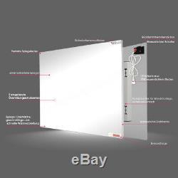 Spiegelheizung 580W Infrarotheizung Spiegel mit Schalter Elektrische Heizplatte