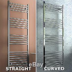 Straight & Curved Heated Towel Rail Radiator Central Heating Bathroom Warmer Rad
