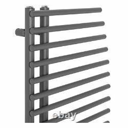 Stylish Curved Bathroom Heated Warming Towel Rail Radiator Rad 1000x550 mm Grey