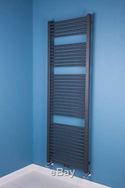 Tall Sand Grey Bathroom Heated Towel Rail Radiator Central Heating 1800 x 600 mm