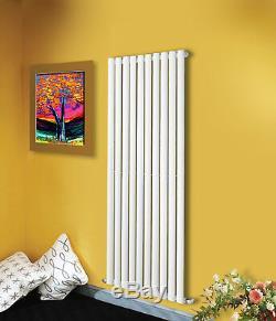 Tall Upright Oval Column Panel Designer Bathroom Radiators Central Heating UK