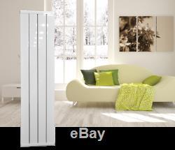 Tall White Aluminium Designer Radiator Heater Central Heating panel1600x400