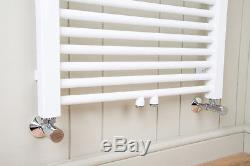 Tall White Bathroom Heated Towel Rail Radiator Central Heating 1800 x 500 -Falun