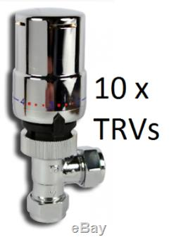 Tower Chrome Trv 15mm Central Heating Control Rad Valve 10mm Option X 10