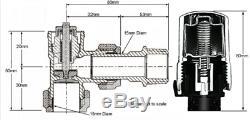 Tower Chrome Trv 15mm Central Heating Control Rad Valve + Return X 10 Sets