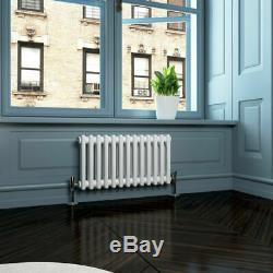 Traditional 2 Column Radiators White Horizontal Central Heating Cast Iron