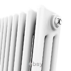 Traditional 3 Column Radiator Horizontal Cast Iron Style Rad White Anthracite