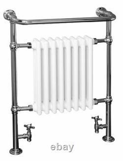 Traditional Bathroom Heated Towel Rail Column Radiator 940 x 659 mm Chrome