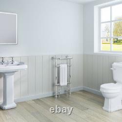 Traditional Bathroom Heated Towel Rail Column Radiator Rad 940 x 479 mm Chrome