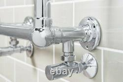 Traditional Bathroom Heated Towel Rail Radiator 700 x 400 mm Chrome