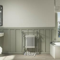 Traditional Bathroom Towel Radiator Heated Floor Mounted Victorian Towel Rail