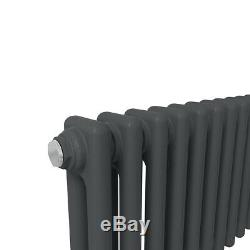 Traditional Cast Iron Style Anthracite 2 Column Horizontal Radiator 315x1010mm