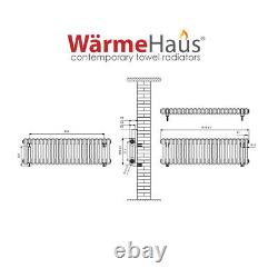 Traditional Cast Iron Style Anthracite Double Horizontal Radiator 300 x 1010mm