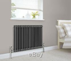 Traditional Cast Iron Style Radiator Anthracite 2 Column Double Vintage Designer