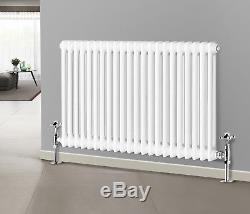 Traditional Central Heating Horizontal 2 Column Cast Iron Style Radiator 600mm