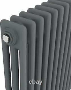 Traditional Colosseum Horizontal Triple Bar Radiator 600 x 800mm Anthracite NDT