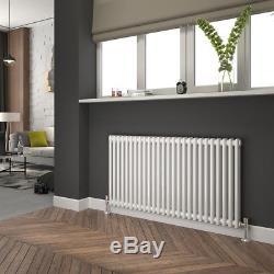 Traditional Column Radiators Central Heating Cast Iron Horizontal UK White