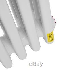 Traditional Column Radiators Horizontal Central Heating Cast Iron Style White #K