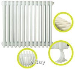 Traditional Column Radiators White Horizontal Cast Iron Style Central Heating