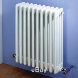 Traditional Designer White Horizontal Column Radiator Central Heating Kartell