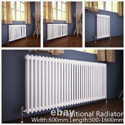 Traditional Radiator 2 Column Horizontal Heating Cast Iron Style Rad Width 600mm